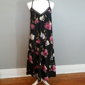 Band Of Gypsies Floral Lace Slip Maxi Dress NWT